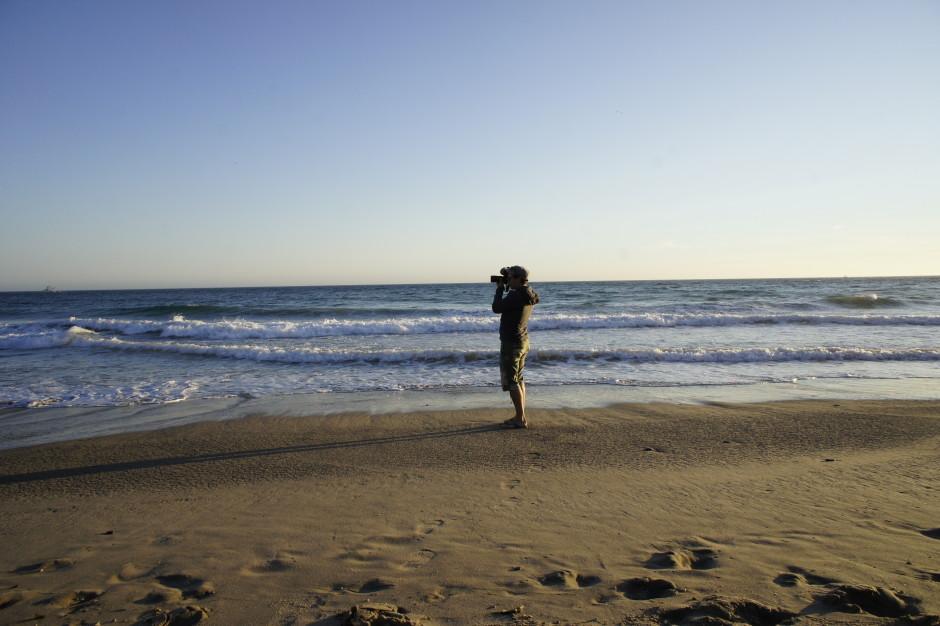 Fotograf am Strand