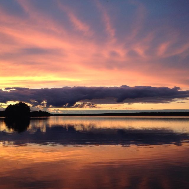 Sonnenuntergang auf dem Stolpsee  sunset lake stolpsee sonnenuntergang flotourhellip